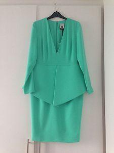Green Aqua Peplum Dress | eBay