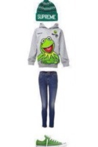 sweater green oversized sweater smiley cartoon