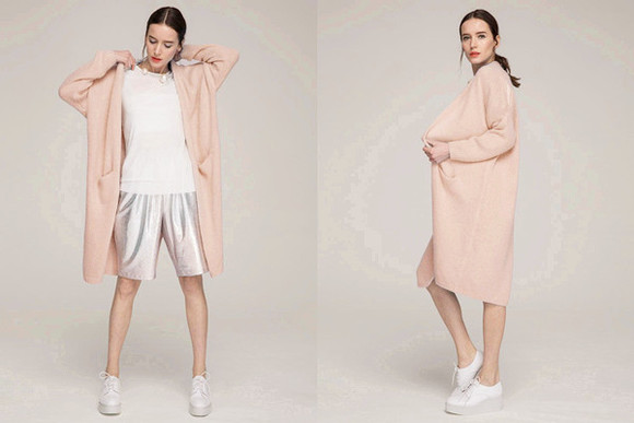 clothes sweatshirt sweater shirt jacket coat top shoes pink cardigan jumper