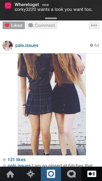 skirt tartan plaid skirt