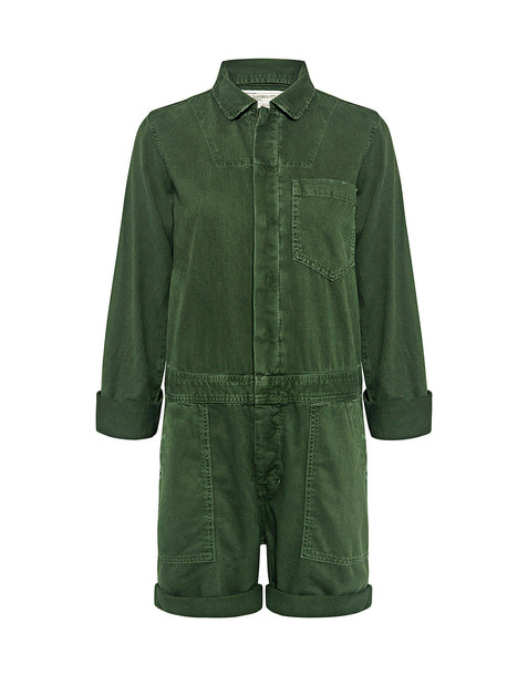 374ea850a3d0 Current Elliott The Basic Jailbird Romper Dark Olive