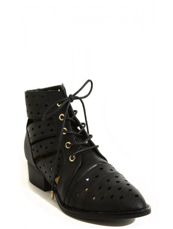To The Point Lace Up Boots - Footwear