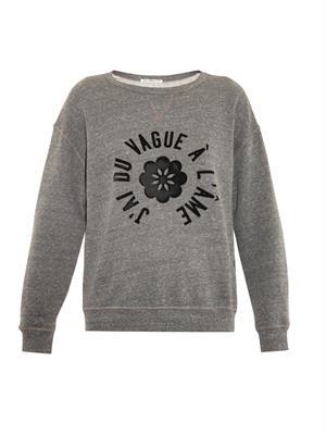 The new wave slogan sweatshirt