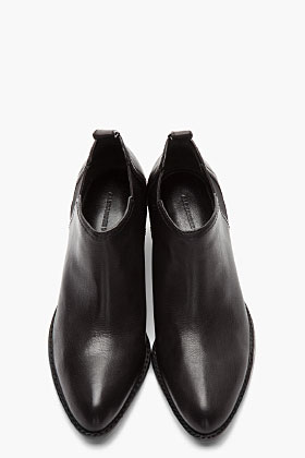 Alexander Wang Black Nickel-heeled Kori Ankle Boots for women | SSENSE