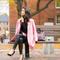 Color love :: rose car coat & purple peplum : wendy's lookbook