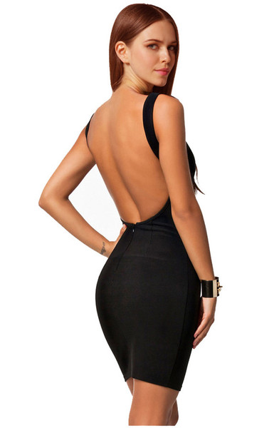 Bodia backless dress