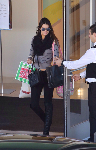 sweater kendall jenner scarf shoes