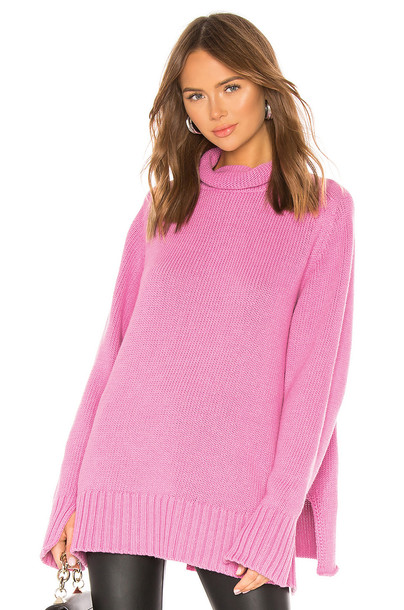 Joseph High Neck Sweater in pink