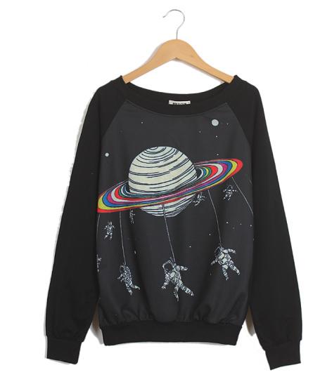 Black space sweatshirt · fashion struck · online store powered by storenvy
