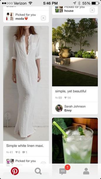dress white linen maxi