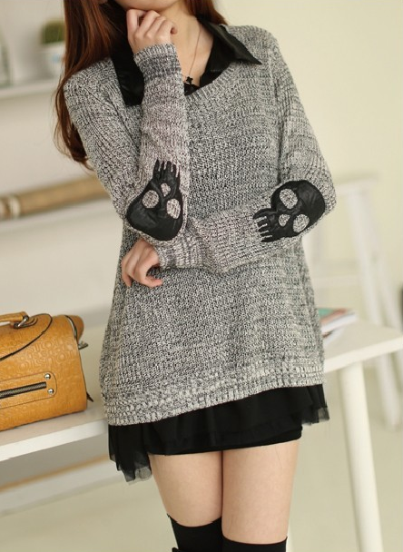 Punk Pullover Skull Sweater