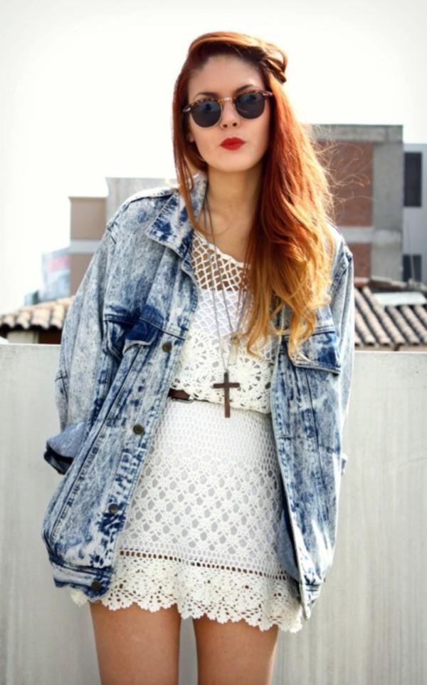 jacket oversized hippie indie cool girl denim jacket oversized jacket jacket dress jewels