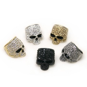 No 823 cubic skull ring swarovski crystal free gifts tracknumber