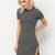 In My Lineup Striped Round Hem Dress BLACKWHITE - GoJane.com