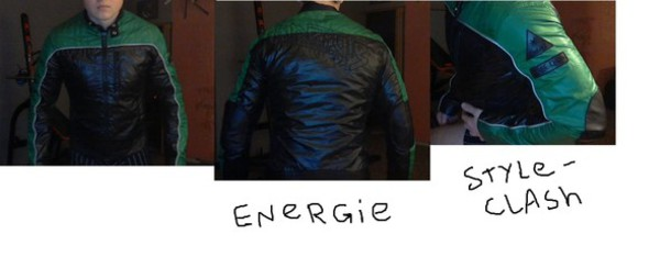 jacket energie green t-shirt black t-shirt