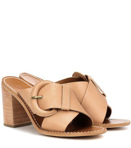 Zimmermann mules leather beige shoes