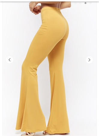 pants flare leggings yellow