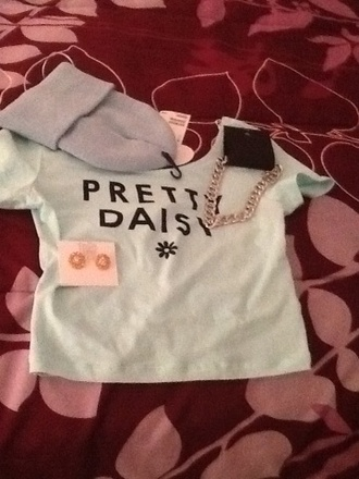 blouse pretty daisy forever 21 baby blue