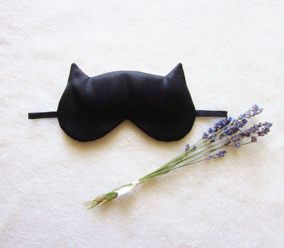 French lavender aromatherapy cat eye mask by naomilingerie on etsy