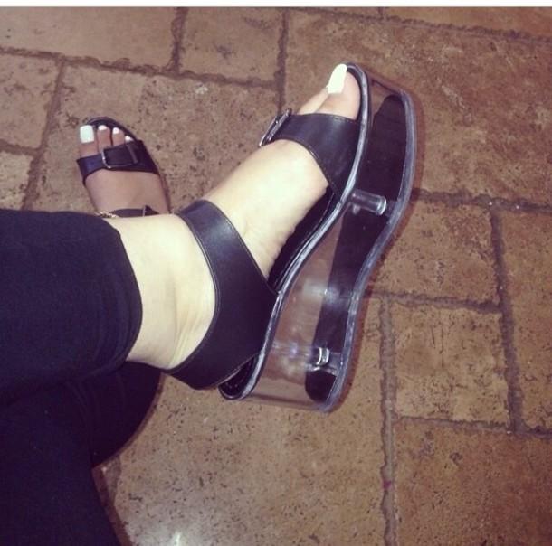 318b2af0a71 shoes platform sandals black black platforms black platform sandals sandals  clear bottom