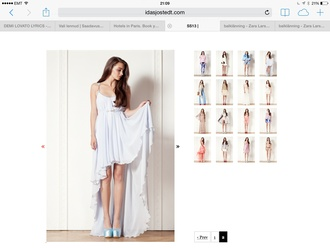 dress ida sjöstedt stephanie dress white dress sweden chiffon chiffon dress