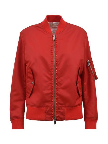 Valentino jacket bomber jacket studded red