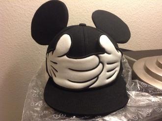 hat mickey mouse black cap snapback gloves disney snapback cap