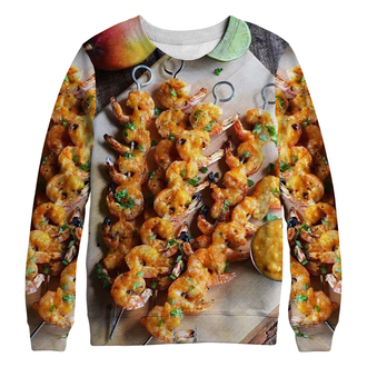 sweater food barbecue funny printed sweater