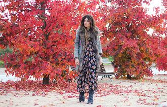 folk maxi dress coat blogger madame rosa peep toe