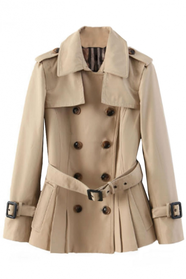 Glamorous Double-Breasted Trench Coat - OASAP.com