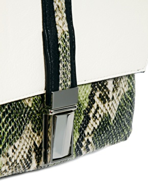 ASOS | ASOS Cross Body Bag With Snake Front Pocket at ASOS
