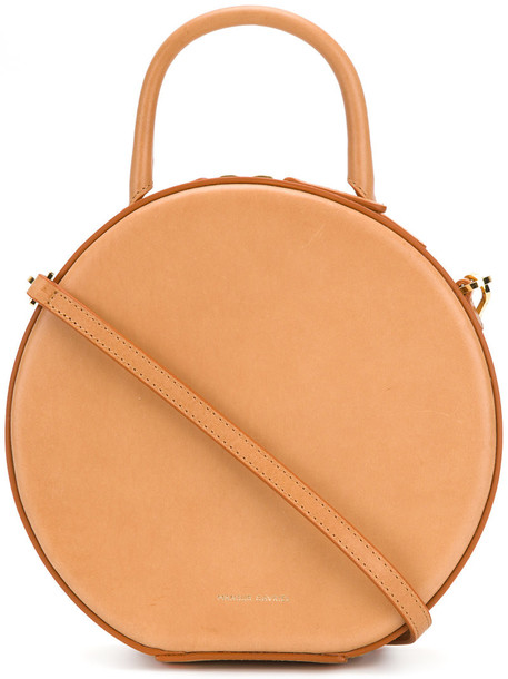 Mansur Gavriel - round mini tote - women - Leather - One Size, Brown, Leather
