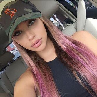 hat drake ovoxo camouflage orange owl pink hair