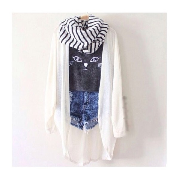 shorts cats ariana grande fashion sweater scarf shirt blouse