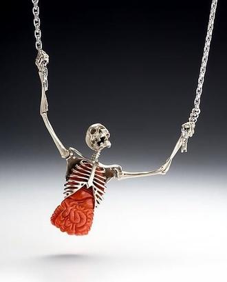 jewels necklace skeleton necklace skeleton