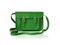 Classic green leather satchel