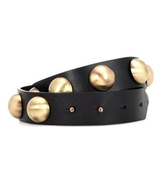 embellished belt leather black