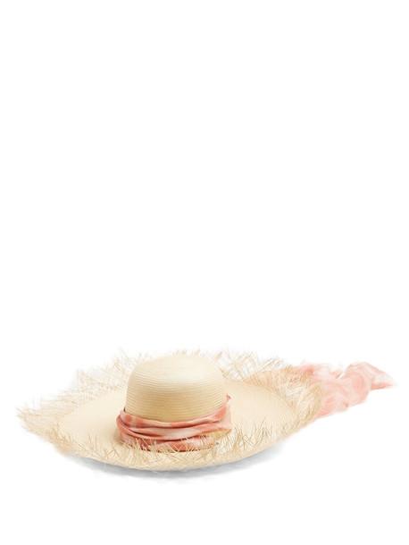 FILÙ HATS Bali Buntal wide-brimmed straw hat in pink
