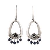 jewels,lapis,sterling silver,gemstone,women earring,dangle earring,jewelry