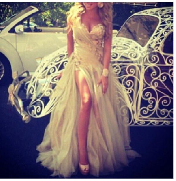 dress white dress prom prom dress long prom dress beautiful elegant elegant dress cut up dress cut dress long dress slit dress white white prom dress