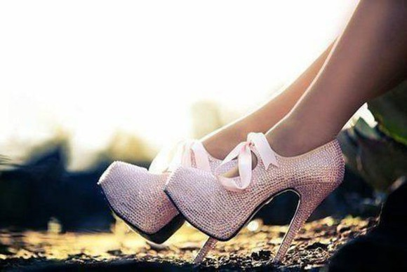 shoes ribbon high heels