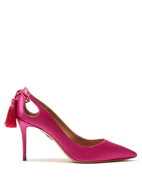forever pumps satin pink shoes