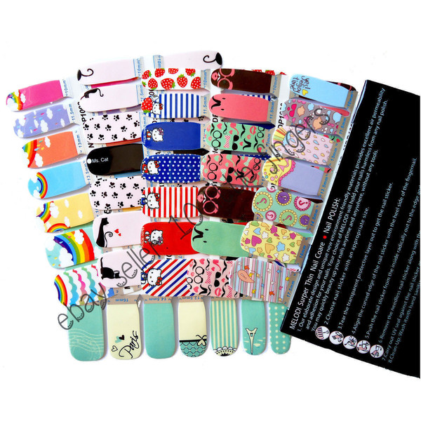 nail accessories nail stickers nail polish manicure full wraps decals paris stripes hello kitty nails nails