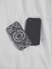 phone cover,ipod touch case,mandala cover,beautiful cover,black and white,mandala iphone case,mandala,iphone cover