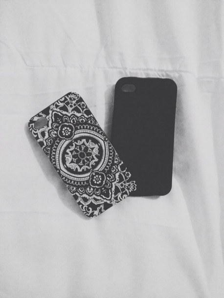 phone cover phone cover ipod touch case mandala cover beautiful cover black and white mandala iphone case mandala iphone cover