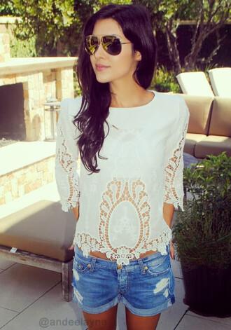 blouse crochet boho