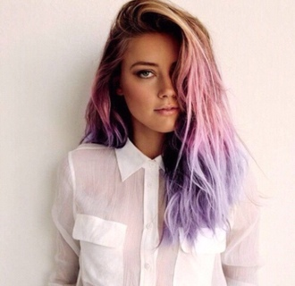 see through pastel hair hair/makeup inspo t-shirt