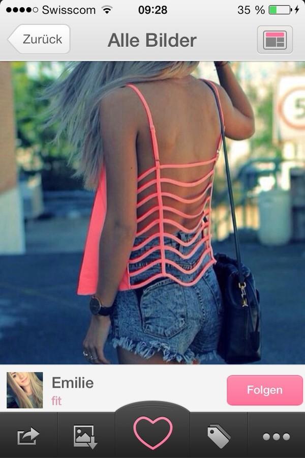shirt pink tank top