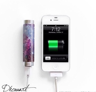 home accessory galaxy print portable charger charger technology