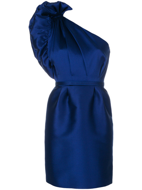 Stella McCartney dress women cotton blue silk